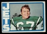 1972 Topps #182  Dave Herman  Front Thumbnail
