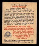 1949 Bowman #44  Dave Philley  Back Thumbnail