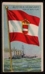 1911 Flags of All Nations T59 #8 HUS  Austria Hungary Man of War Flag Front Thumbnail