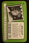1971 Topps Super #40  Rich Allen  Back Thumbnail