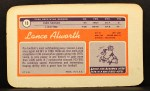 1970 Topps Super #13  Lance Alworth  Back Thumbnail