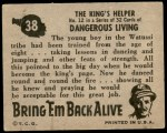 1950 Topps Bring Em Back Alive #38   The King's Helper Back Thumbnail