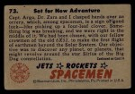 1951 Bowman Jets Rockets and Spacemen! #73   Set for New Adventure Back Thumbnail