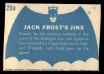1966 Topps Batman Blue Bat Back #26 BLU  Jack Frost's Jinx Back Thumbnail