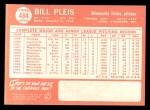 1964 Topps #484  Bill Pleis  Back Thumbnail