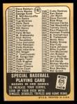 1968 Topps #192 A  -  Carl Yastrzemski Checklist 3 Back Thumbnail