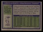 1972 Topps #248  Lance Alworth  Back Thumbnail