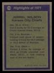 1972 Topps #276   -  Jerrel Wilson All-Pro Back Thumbnail