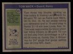 1972 Topps #337  Tom Mack  Back Thumbnail