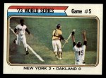1974 Topps #476   -  Cleon Jones / Ray Fosse / Jerry Grote 1973 World Series - Game #5 Front Thumbnail