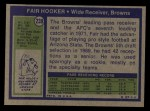 1972 Topps #239  Fair Hooker  Back Thumbnail