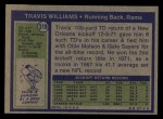 1972 Topps #318  Travis Williams  Back Thumbnail