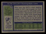 1972 Topps #199  Altie Taylor  Back Thumbnail