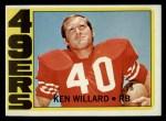 1972 Topps #234  Ken Willard  Front Thumbnail
