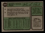 1974 Topps #399  Mike Paul  Back Thumbnail