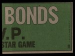 1974 Topps #338   -  Reggie Jackson / Billy Williams All-Star Right Fielders   Back Thumbnail