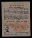 1949 Bowman #217  Marino Pieretti  Back Thumbnail