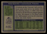 1972 Topps #39  Ken Reaves  Back Thumbnail