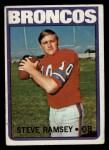 1972 Topps #74  Steve Ramsey  Front Thumbnail