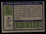 1972 Topps #92  Bobby Duhon  Back Thumbnail