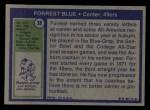1972 Topps #38  Forrest Blue  Back Thumbnail