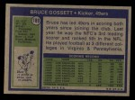 1972 Topps #189  Bruce Gossett  Back Thumbnail