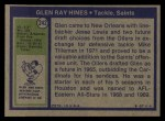 1972 Topps #242  Glen Ray Hines  Back Thumbnail