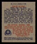 1949 Bowman #34  Dave Koslo  Back Thumbnail