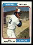 1974 Topps #25  Ken Singleton  Front Thumbnail