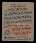 1949 Bowman #14  Curt Simmons  Back Thumbnail
