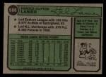 1974 Topps #588  Hal Lanier  Back Thumbnail