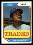1974 Topps Traded #538 T  -  Cesar Tovar Traded Front Thumbnail