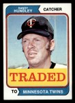 1974 Topps Traded #319 T  -  Randy Hundley Traded Front Thumbnail