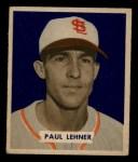 1949 Bowman #131  Paul Lehner  Front Thumbnail