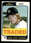 1974 Topps Traded #63 T Bill Sudakis  Front Thumbnail