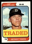 1974 Topps Traded #428 T  -  Gary Sutherland Traded Front Thumbnail