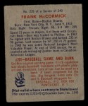 1949 Bowman #239  Frank McCormick  Back Thumbnail