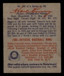 1949 Bowman #134  Hank Borowy  Back Thumbnail