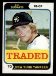 1974 Topps Traded #63 T  -  Bill Sudakis Traded Front Thumbnail
