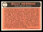 1966 Topps #37  Billy Herman  Back Thumbnail