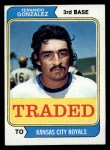 1974 Topps Traded #649 T  -  Fernando Gonzalez Traded Front Thumbnail