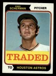 1974 Topps Traded #186 T  -  Fred Scherman Traded Front Thumbnail