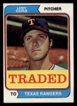1974 Topps Traded #616 T  -  Larry Gura Traded Front Thumbnail