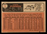 1966 Topps #180  Vada Pinson  Back Thumbnail
