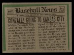 1974 Topps Traded #649 T  -  Fernando Gonzalez Traded Back Thumbnail