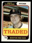 1974 Topps Traded #175 T Reggie Cleveland  Front Thumbnail
