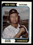 1974 Topps #398  Duke Sims  Front Thumbnail