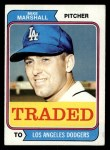 1974 Topps Traded #73 T  -  Mike Marshall Traded Front Thumbnail
