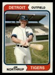 1974 Topps #266  Jim Northrup  Front Thumbnail