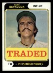 1974 Topps Traded #454 T  -  Kurt Bevacqua Traded Front Thumbnail